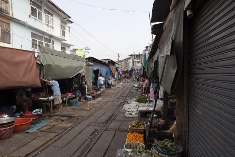 Mercado do trem foto de stock