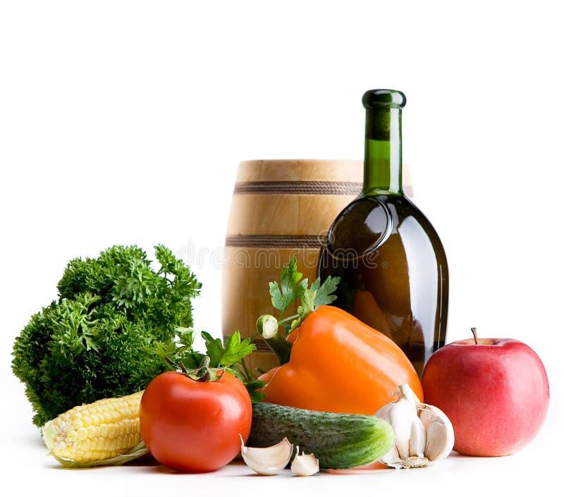 Mercado do vegetal dos fazendeiros do fundo do alimento biológico fotografia de stock