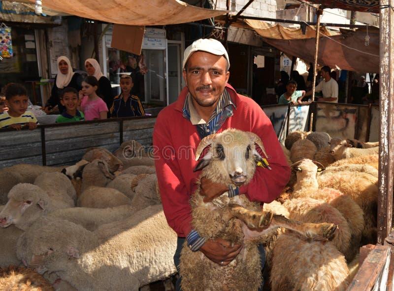 Mercado dos carneiros de Eid fotos de stock royalty free