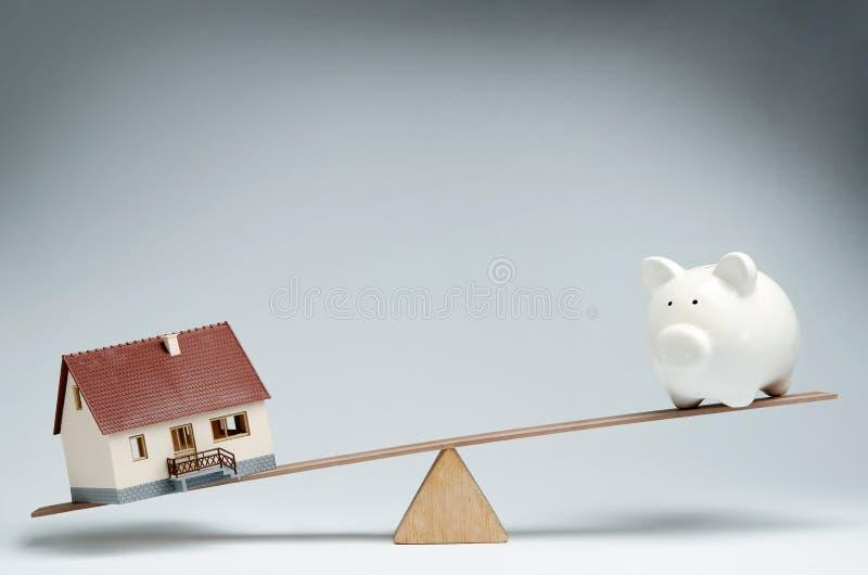 Mercado dos empréstimos hipotecarios fotos de stock