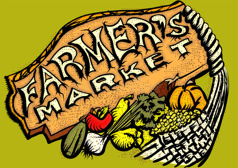 Mercado dos fazendeiros ilustração royalty free
