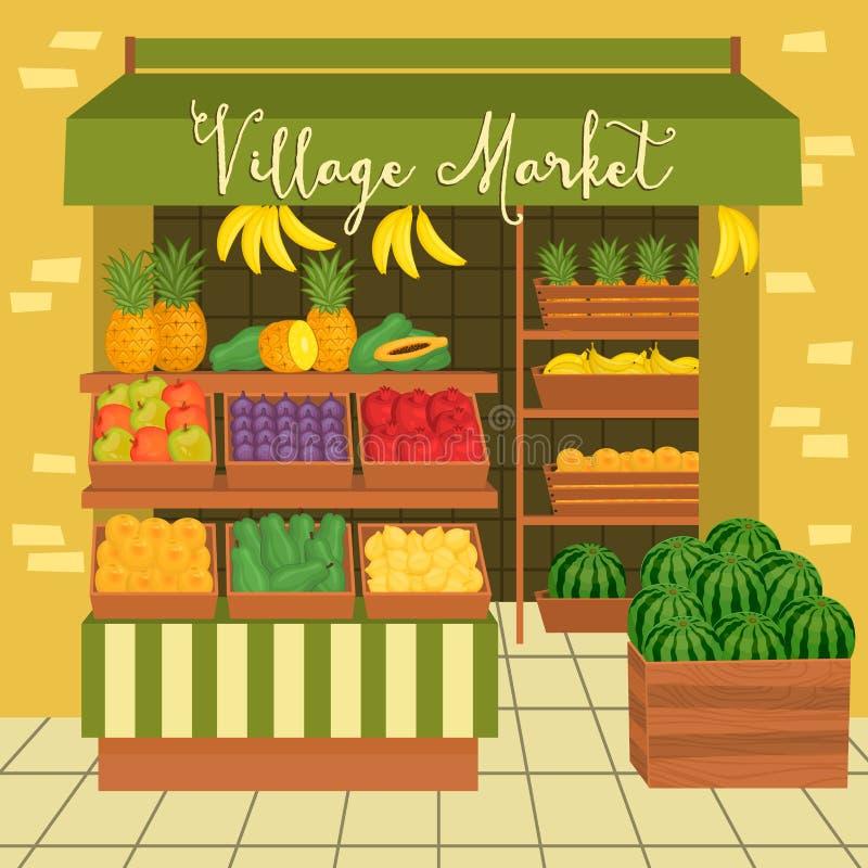 Mercado dos fazendeiros Alimento da rua ilustração do vetor