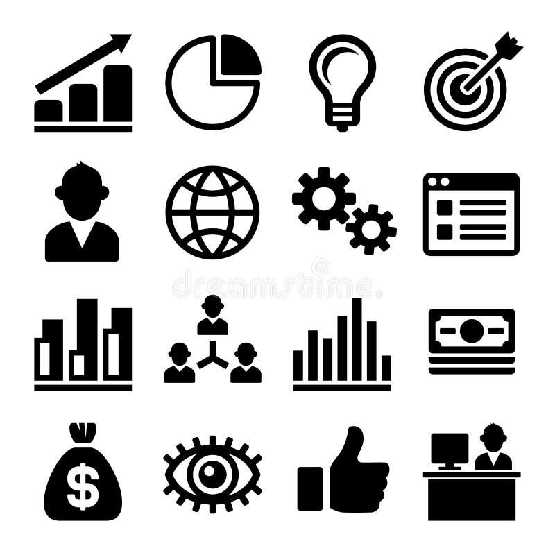 Mercado e CEO Icons Set Vetor ilustração royalty free