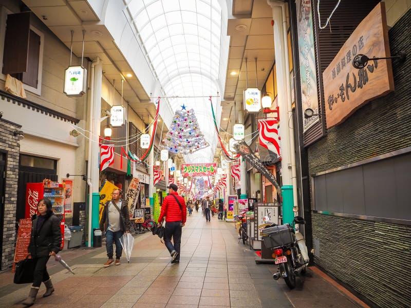 Mercado e rua de Fukuoka imagens de stock royalty free