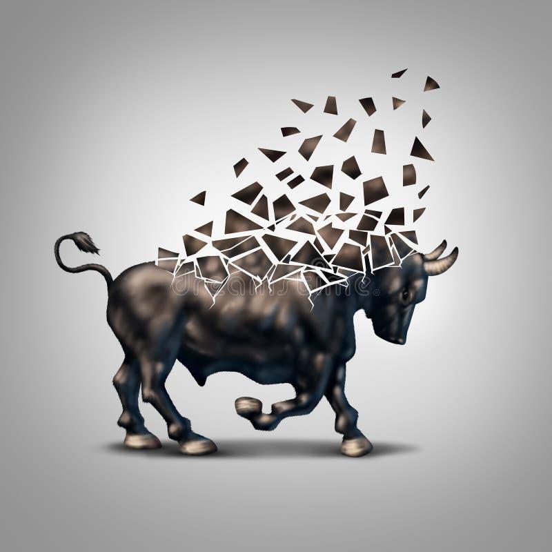 Mercado em alta frágil ilustração stock