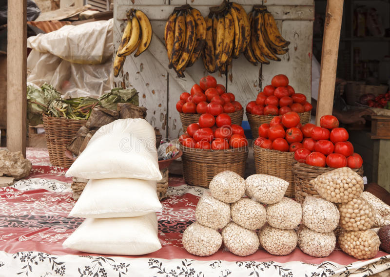 Mercado em Gana imagens de stock royalty free