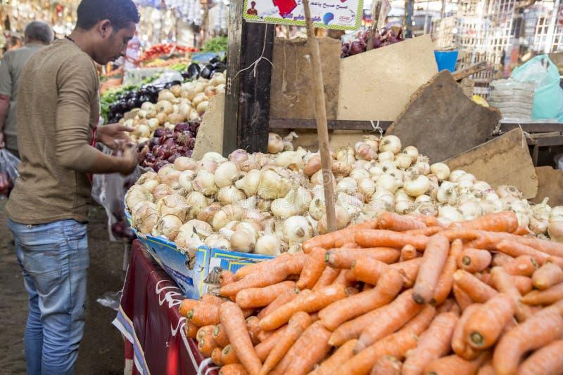Mercado em Hurghada, Egipto imagem de stock