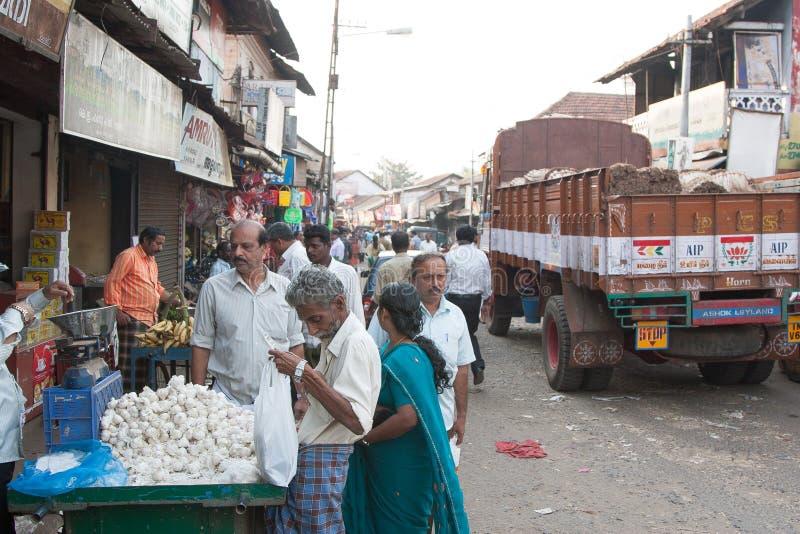 Mercado em Kannur foto de stock