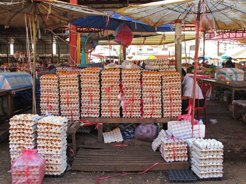 Mercado em Laos fotos de stock royalty free