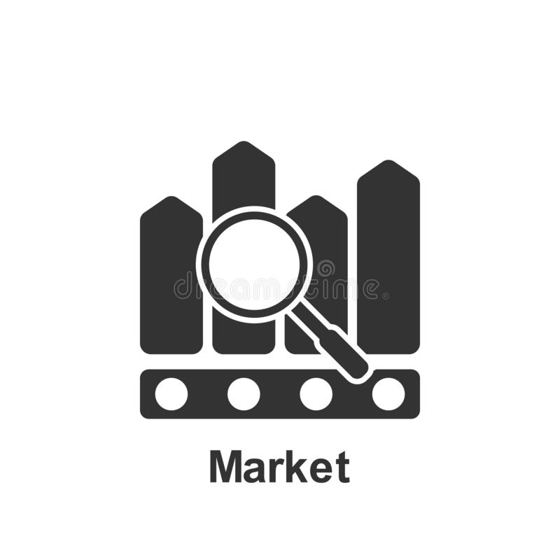 Mercado em linha, ?cone do mercado r ?cone superior do projeto gr?fico da qualidade sinais e cole??o dos s?mbolos ilustração do vetor