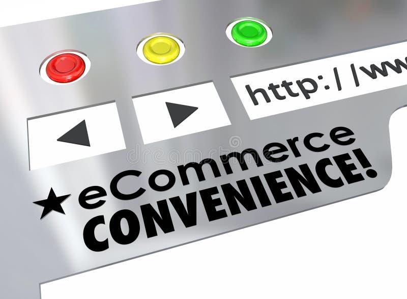 Mercado em linha da loja do Web site da conveniência do comércio eletrónico ilustração royalty free