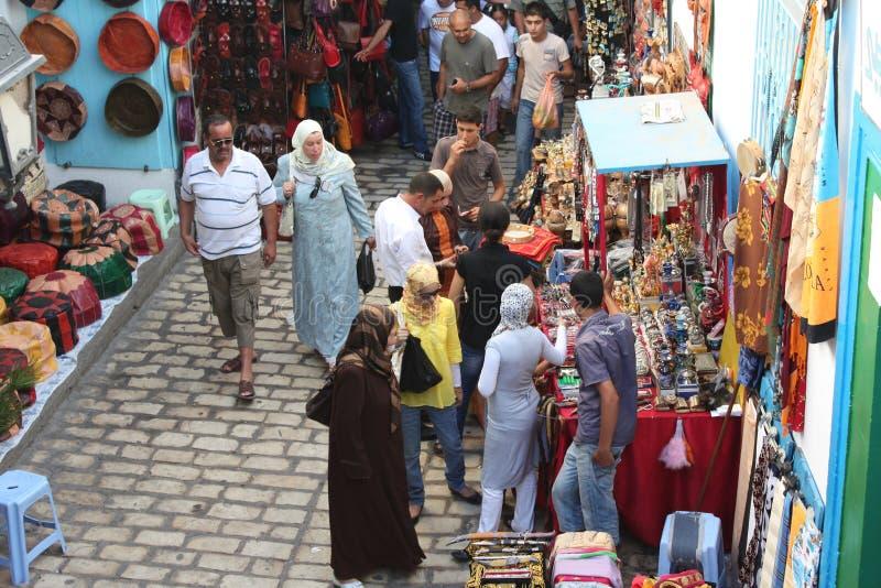 Mercado em Medina Tun?sia, Sousse imagens de stock royalty free