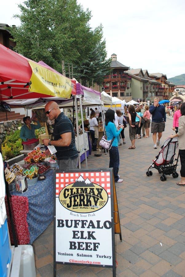 Mercado em Vail, Colorado do fazendeiro fotografia de stock