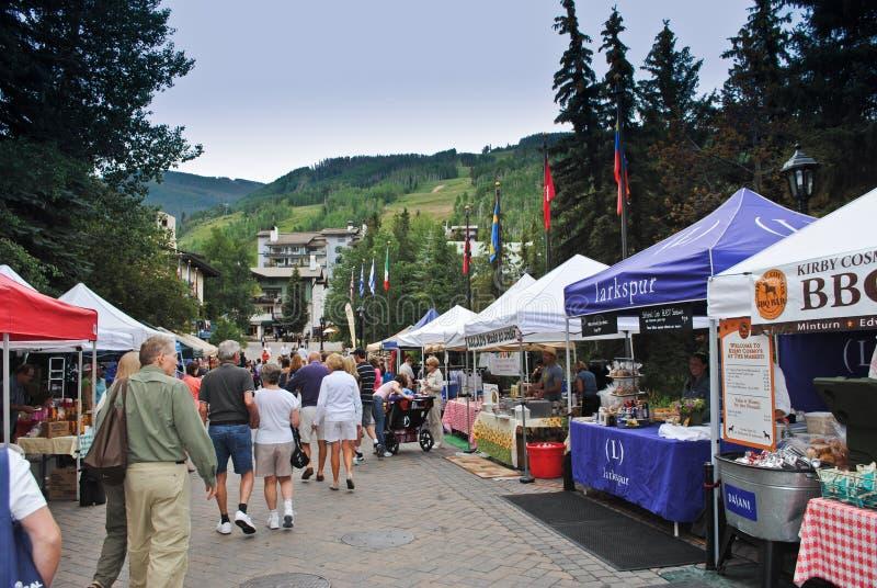 Mercado em Vail, Colorado do fazendeiro imagens de stock royalty free