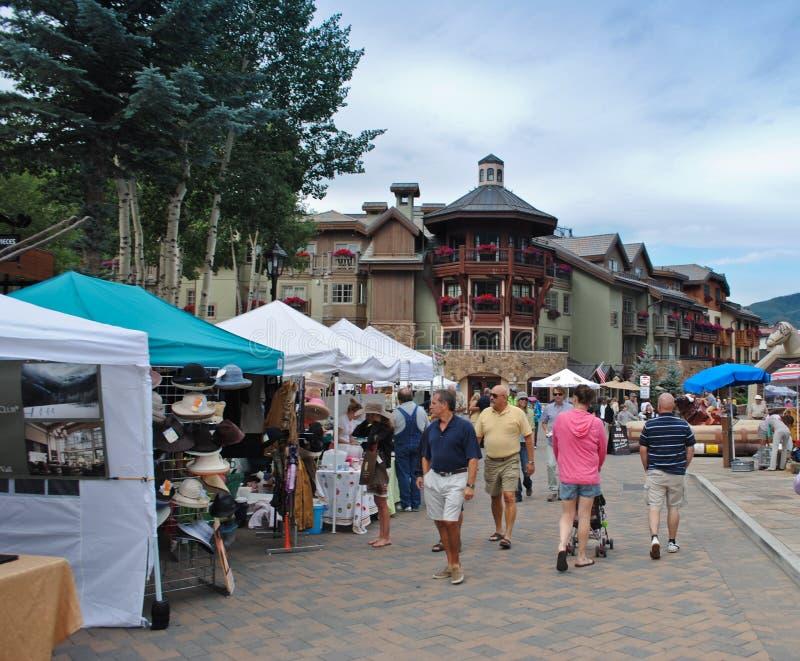 Mercado em Vail, Colorado do fazendeiro foto de stock royalty free