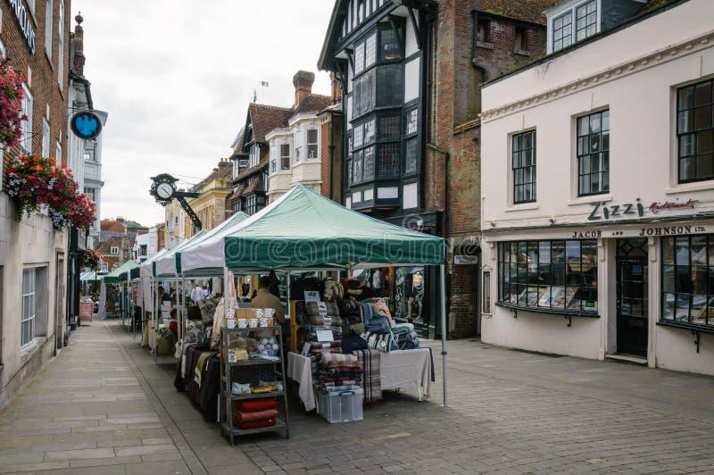 Mercado em Winchester imagens de stock