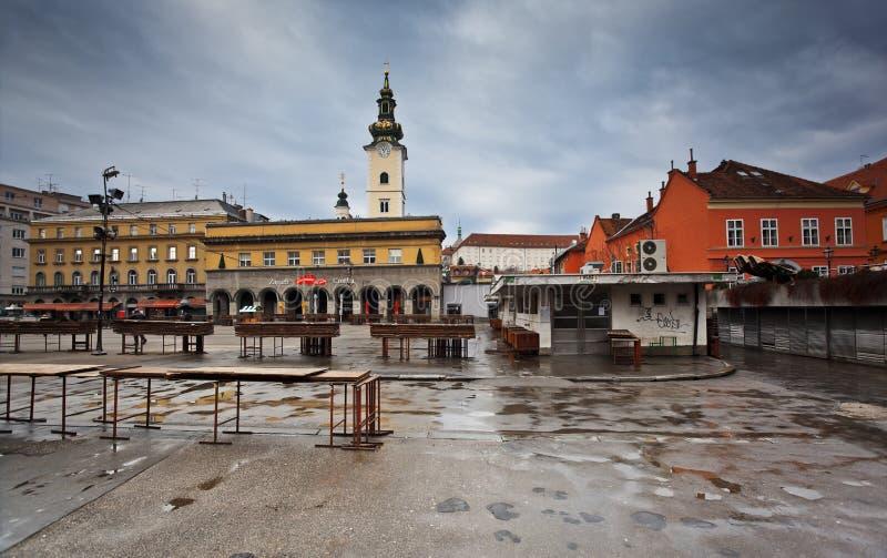Mercado em Zagreb, Croatia imagem de stock royalty free