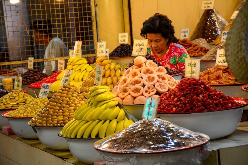 Mercado en ayutthaya, Tailandia fotografía de archivo libre de regalías