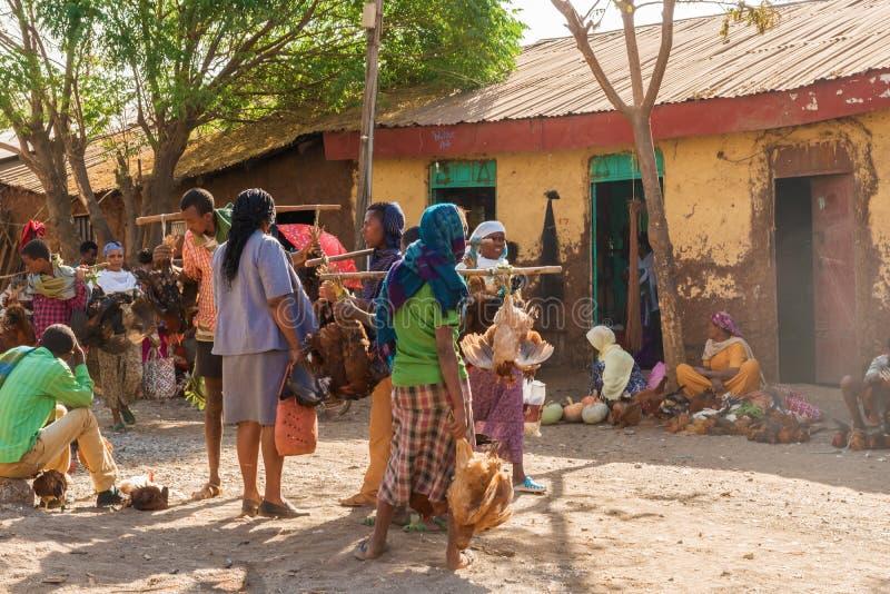 Mercado en Bahir Dar imágenes de archivo libres de regalías