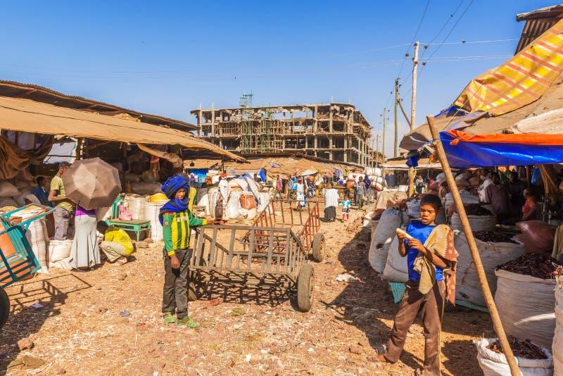 Mercado en Bahir Dar fotos de archivo libres de regalías