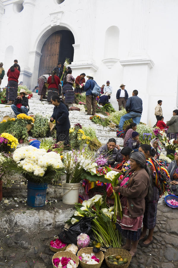 Mercado en Chichicastenango foto de archivo