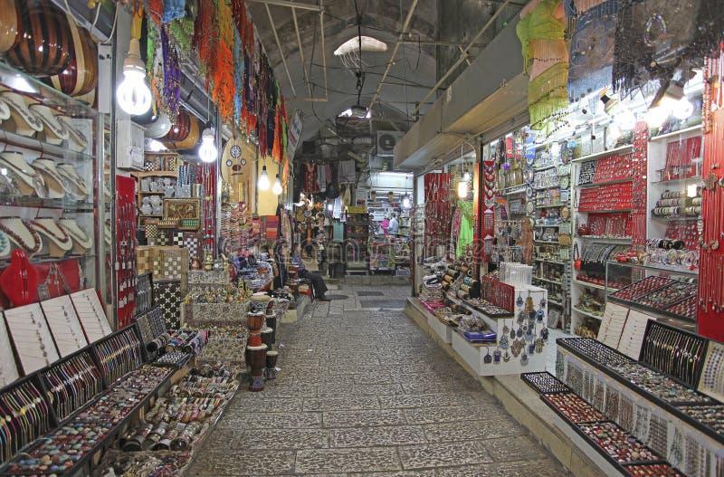 Mercado en el cuarto árabe de Jerusalén Israel imágenes de archivo libres de regalías
