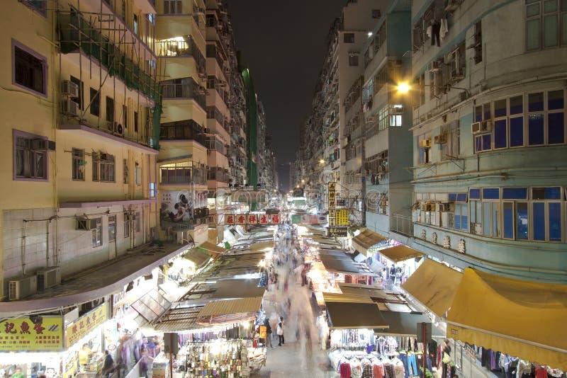 Mercado en Hong-Kong en la noche fotos de archivo libres de regalías