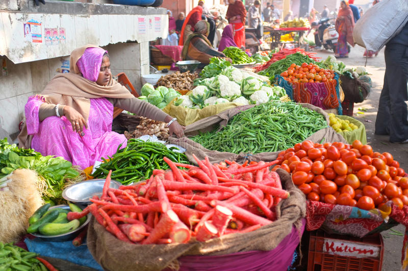 Mercado en la India imagenes de archivo