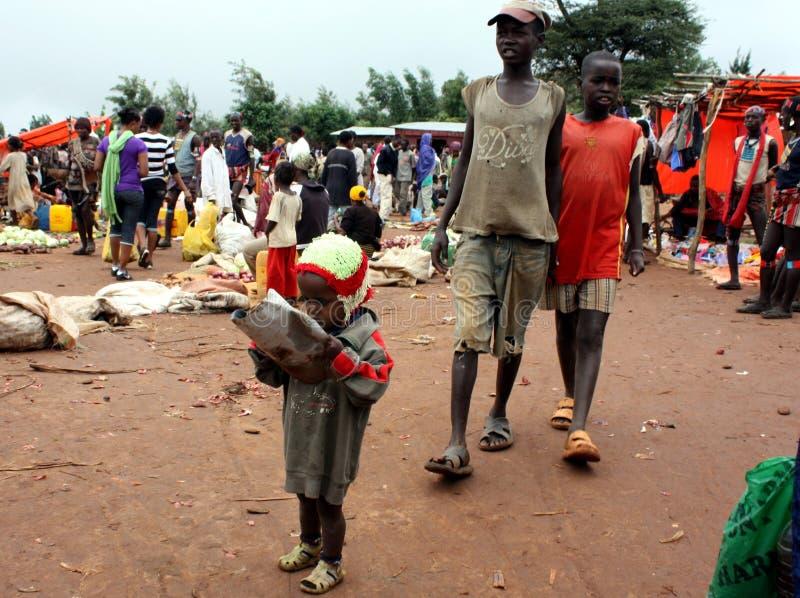 Mercado etíope imágenes de archivo libres de regalías