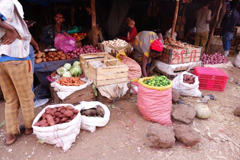 Mercado etíope animado imagen de archivo libre de regalías