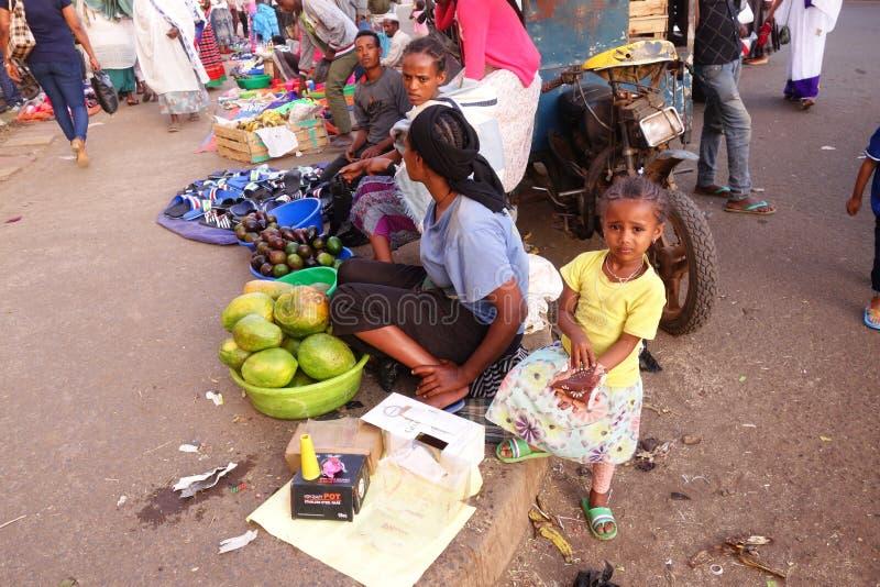 Mercado etíope animado foto de archivo