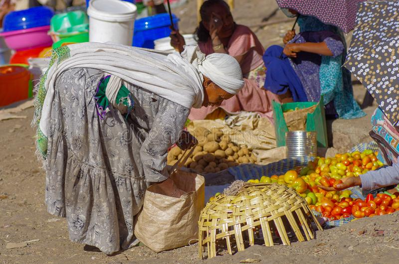 Mercado etíope animado fotos de archivo libres de regalías
