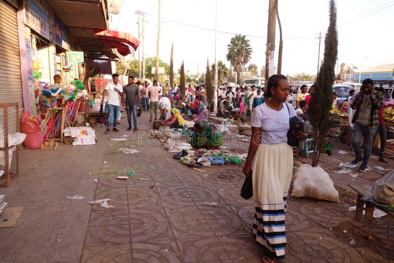 Mercado etíope vívido fotos de stock