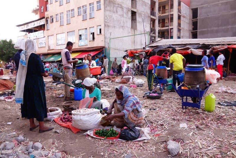 Mercado etíope vívido fotos de stock royalty free