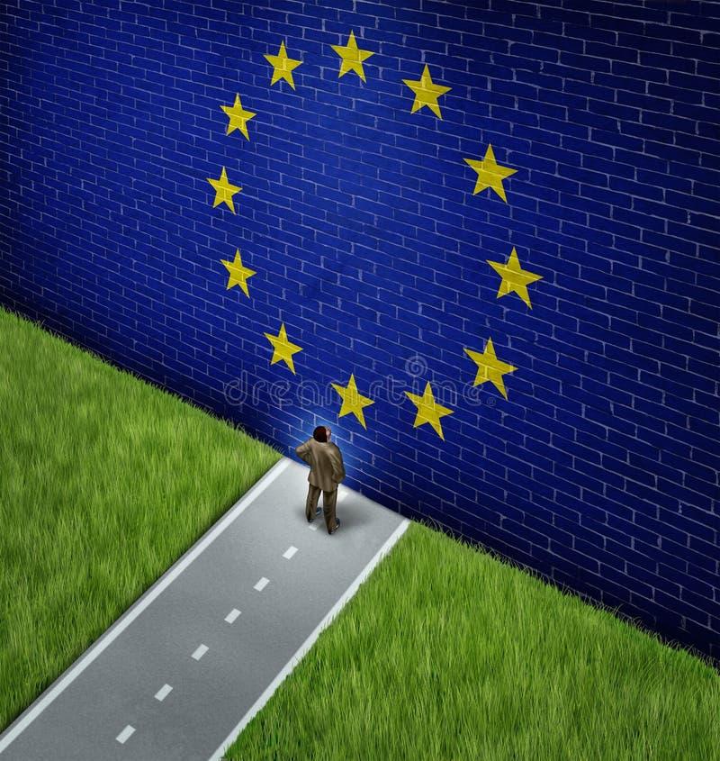 Mercado europeo cerrado ilustración del vector