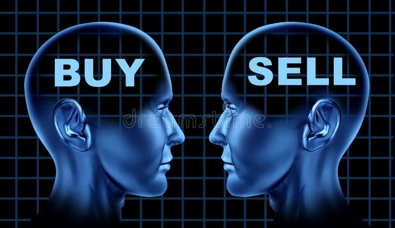 Mercado financiero del asunto de compra-venta de las existencias ilustración del vector