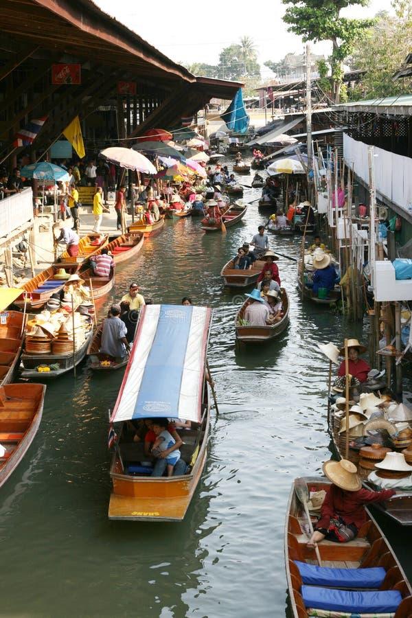 Mercado flotante fotografía de archivo
