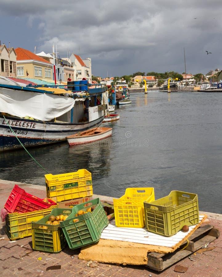 Mercado flotante Punda imagen de archivo