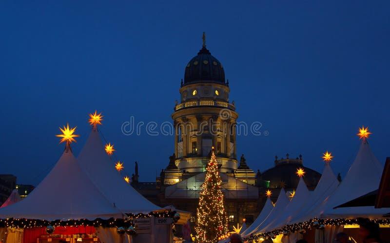 Mercado Gendarmenmarkt do Natal de Berlim imagens de stock royalty free
