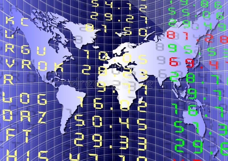 Mercado global stock de ilustración