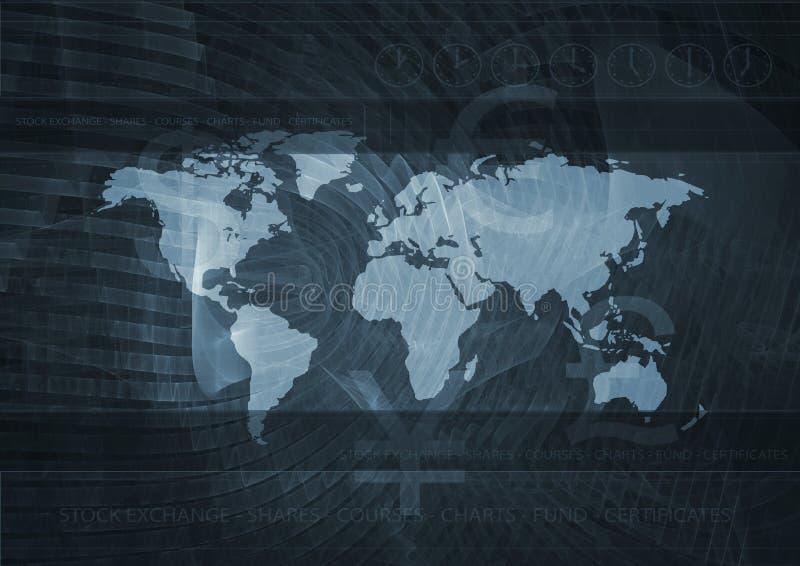 Mercado global   ilustração stock