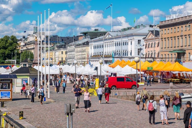 Mercado Helsínquia, Finlandia, UE imagem de stock