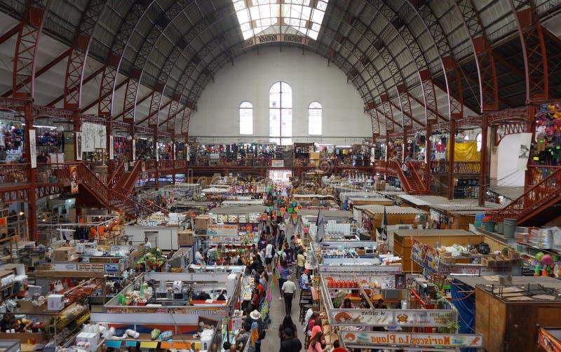 Mercado Hidalgo van de binnenkant, Hidalgo-Markt in Guanajuato, Mexico 2017 royalty-vrije stock afbeelding