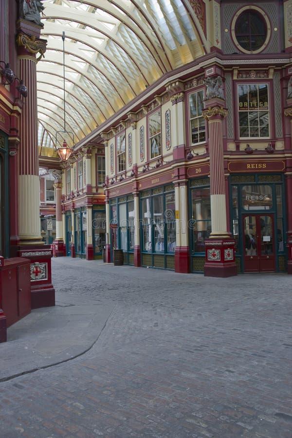 Mercado histórico de Leadenhall imagem de stock