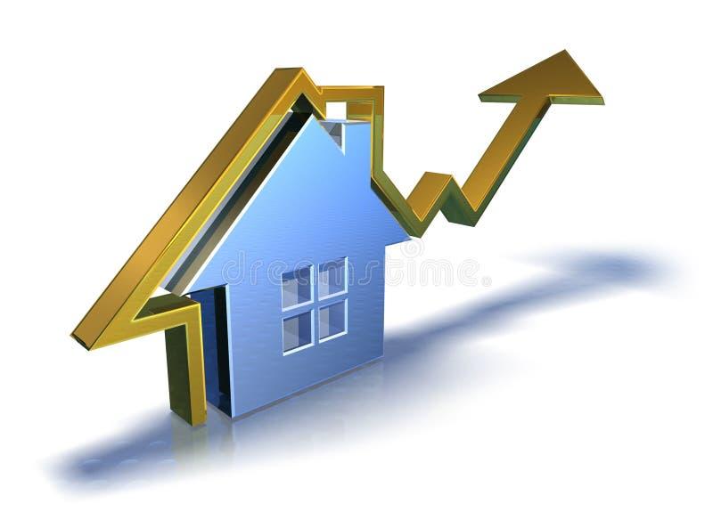 Mercado imobiliário ilustração do vetor