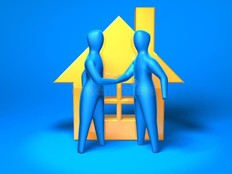Mercado imobiliário ilustração stock