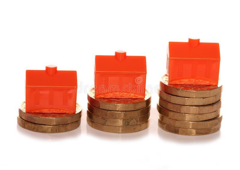 Mercado imobiliário BRITÂNICO que faz o dinheiro imagens de stock