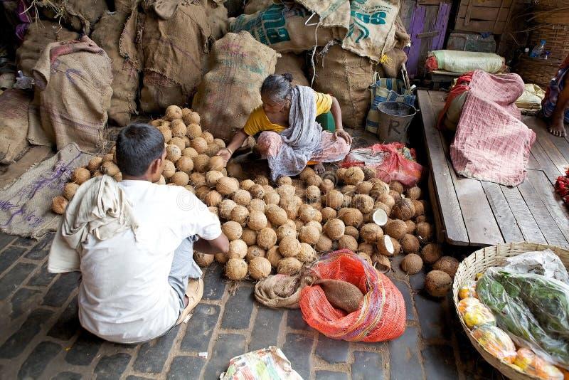 Mercado indiano, Kolkata, Índia imagens de stock royalty free