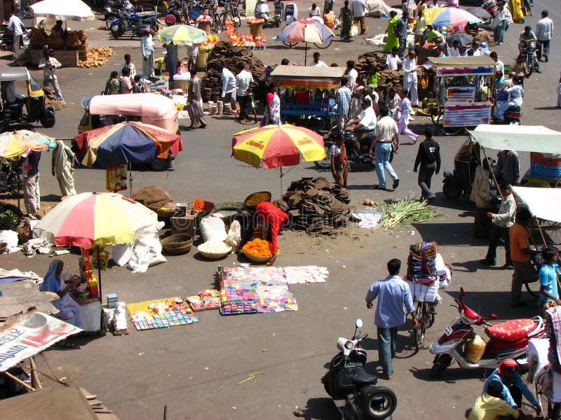 Mercado indio fotografía de archivo