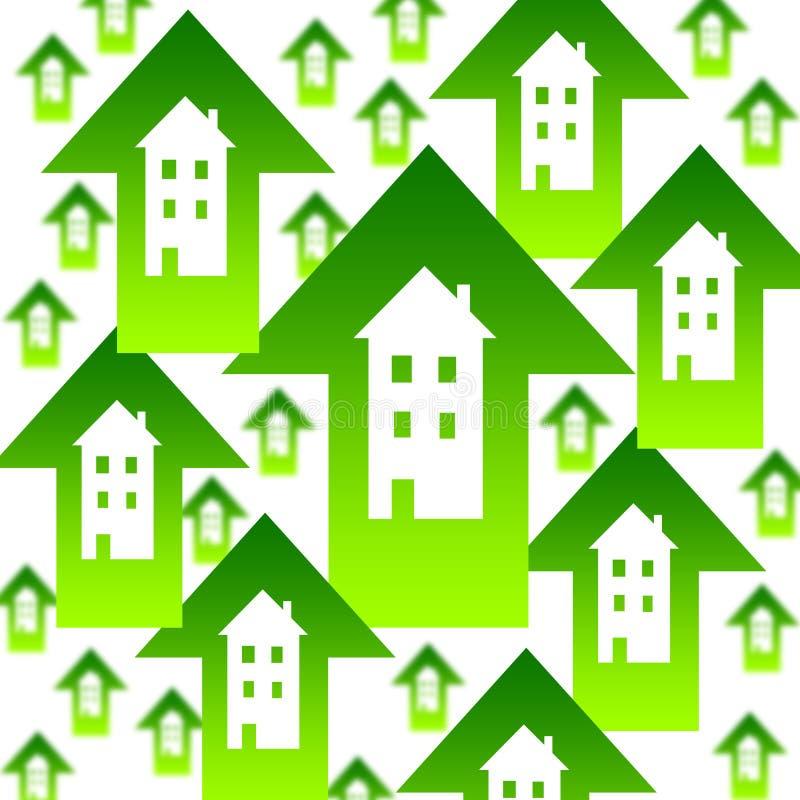 Mercado inmobiliario stock de ilustración